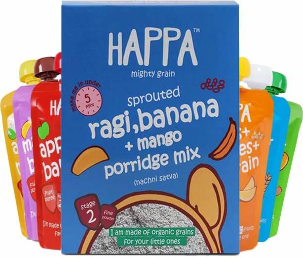 Happa organic puree and porridge combo baby food, anti-bacterial neem wood comb for infants, kids&baby Cereal