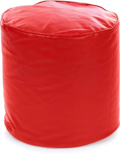 STYLE HOMEZ Large Round Ottoman Bean Bag Footstool  With Bean Filling