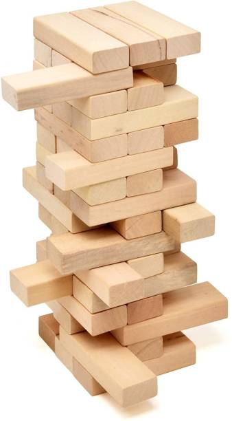 SOUVENIR Tumbling Tower Wood Block Stacking Game Dread Table Games Classic Truth or Dare Games Tumbling Tower for Adults, Children's & Families Stacking Toy Set Challenge Game