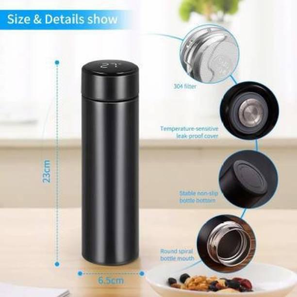 Rolimoli Smart Vacuum Flasks Stainless Steel Water Thermal Bottle LED Temperature Display 450 ml Flask
