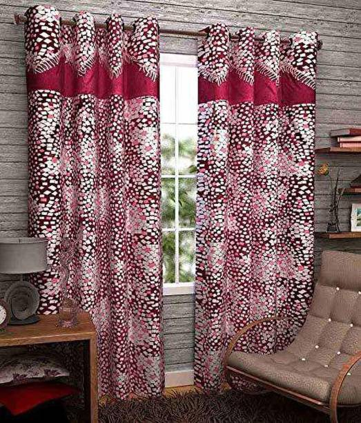Lanil's choice 214 cm (7 ft) Cotton Window Curtain (Pack Of 2)