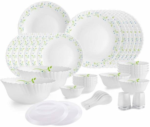 cello Pack of 37 Opalware Dazzle Tropical Lagoon-37 Dinner Set