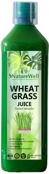 Naturewell Ultra Wheat Grass Juice 500 ml.Natural Juice for Building Immunity.Effective for Detoxification. High Chlorophyll.Fresh Sprouted Ultra Wheatgrass | No Added Artificial Flavours I Gluten Free I