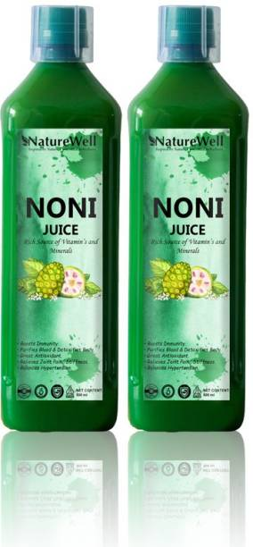 Naturewell Organics Ultra Noni Juice Natural Juice for Building Immunity and Digestion Booster (PACK OF 2)