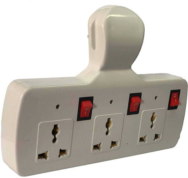 ECOBELL Multi Plug with Individual Switches, LED Indicators and Fuse Extension Board Switch Spike Guard 3 Pin Multi Plug Fuse Extension Board Switch with Individual Switches, LED Indicators and Spike Guard Three Pin Plug