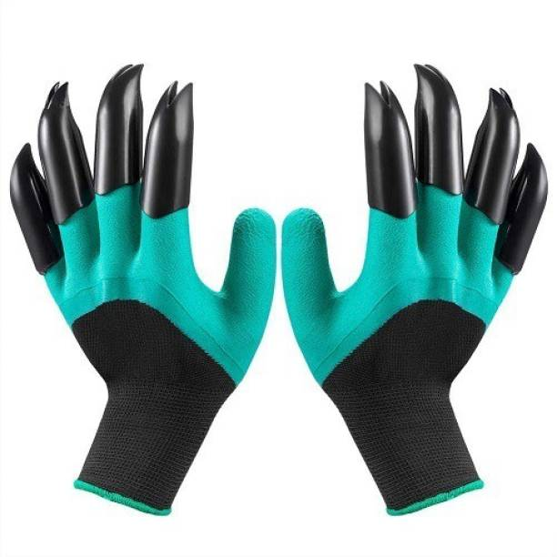 Wovas Garden Gloves with Claws for Pruning, Digging & Planting, Washable, , Best Gardening Gifts for Women and Men. Gardening Shoulder Glove