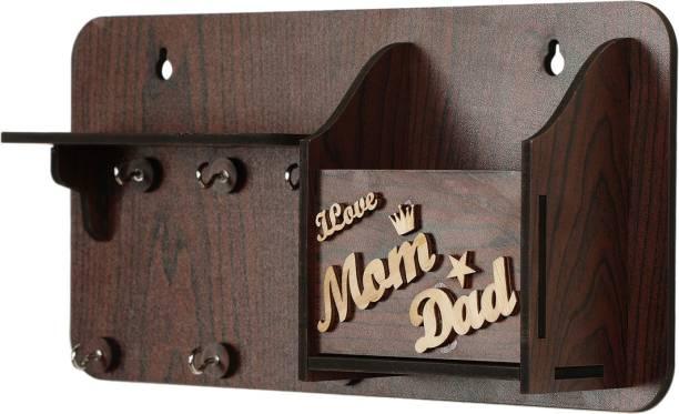 AMTRENDS nice hard work engrave mom dad special Wood Key Holder