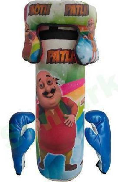 Aao je Motu Patlu No.1 Kids Toy Boxing Kit With 2 Gloves and 1 Head guard For Kids 3 To 10 Years Boxing Training Kit Boxing Kit