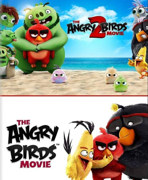 Angry Birds 1 & 2 (dual audio Hindi and English) HD print clear audio it's burn DATA DVD play only in computer or laptop it's not original without poster
