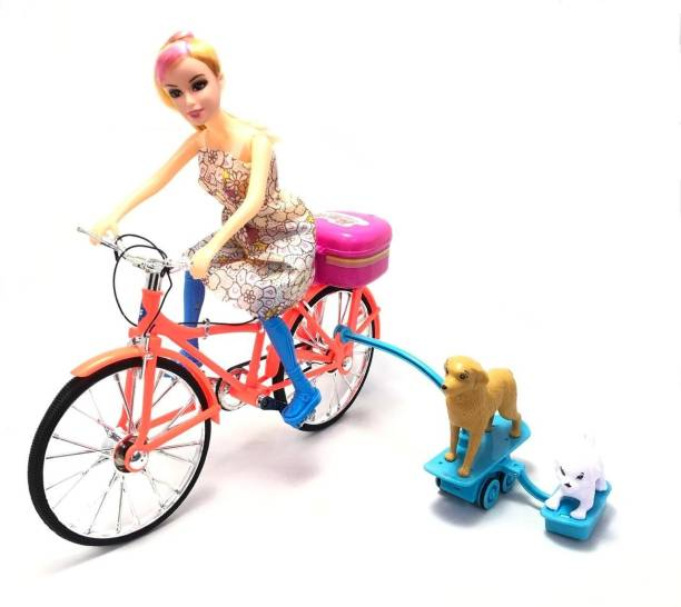 Mubco Competition Doll Ride on Bicycles Spin N Ride Music Light Electronic Toys Pack of 1
