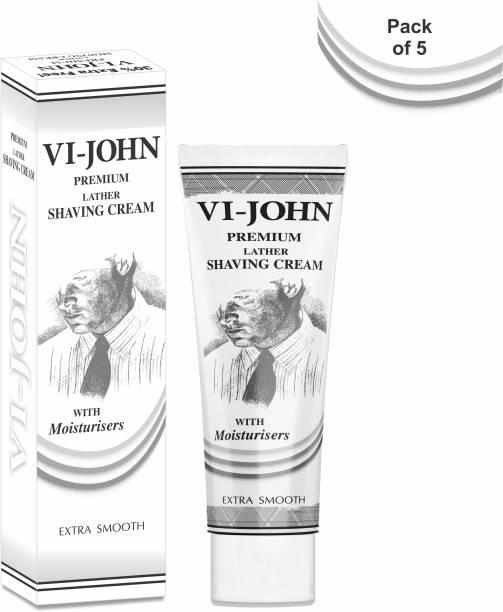 VI-JOHN Premium Shaving Cream 91 GM (Pack Of 5)