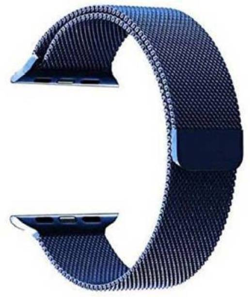 Caxon Stainless Steel Milanese Strap Band with Magnetic Closure for iWatch 38mm/40mm, Compatible with Watch Series 1/2/3/4/5 T_38/40mm_Blue(Chain) Smart Watch Strap Smart Watch Strap