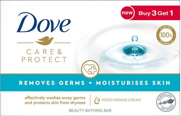DOVE Care & Protect Moisturising Cream Beauty Bathing Bar