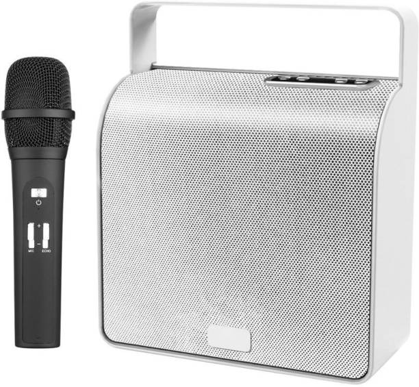 LANDMARK Storm Wireless Speaker with Mic LM TBS7044 Bluetooth Party Speaker Silver Outdoor PA System