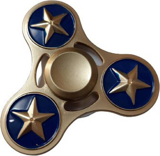 Wolfano Captain America Fidget Spinner | Avengers | Long Spinning Time | Metallic Fidget Spinner
