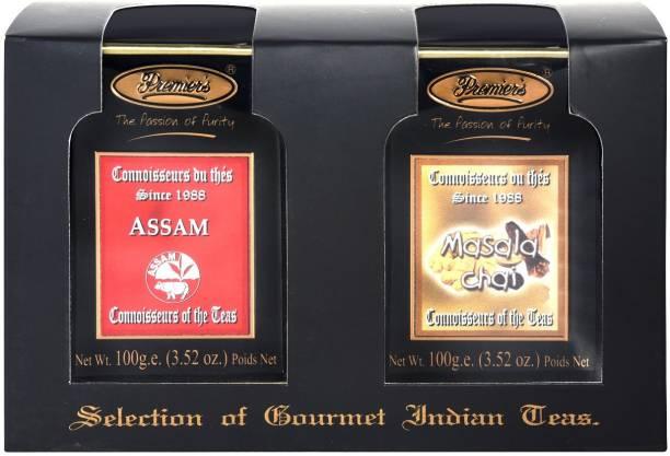 Premiers 2-in-1 Tea Gift Set (Assam Black Tea + Masala Chai ) Series Masala Tea Festive Gift Box