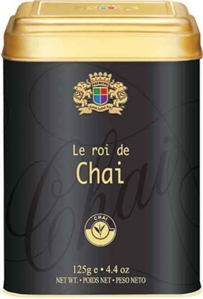 Premiers Chai CTC Black Tea | 62 Cups | 125 Grams | Garden Fresh | PMS Tea Tin
