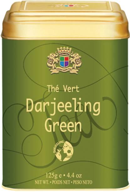 Premiers Pure Darjeeling Green Tea | 62 Cups | 125 Grams | Garden Fresh | Loose Leaf Tea | PMS Unflavoured Green Tea Tin