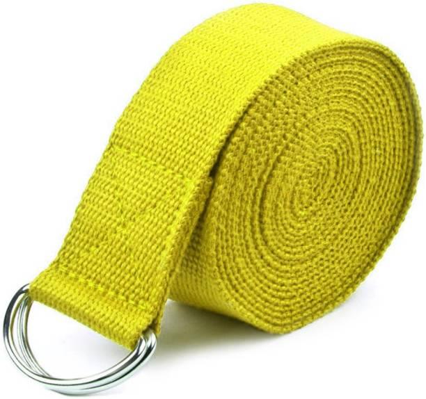 FirstFit FF-Yoga Belt-Yellow-P Cotton Yoga Strap
