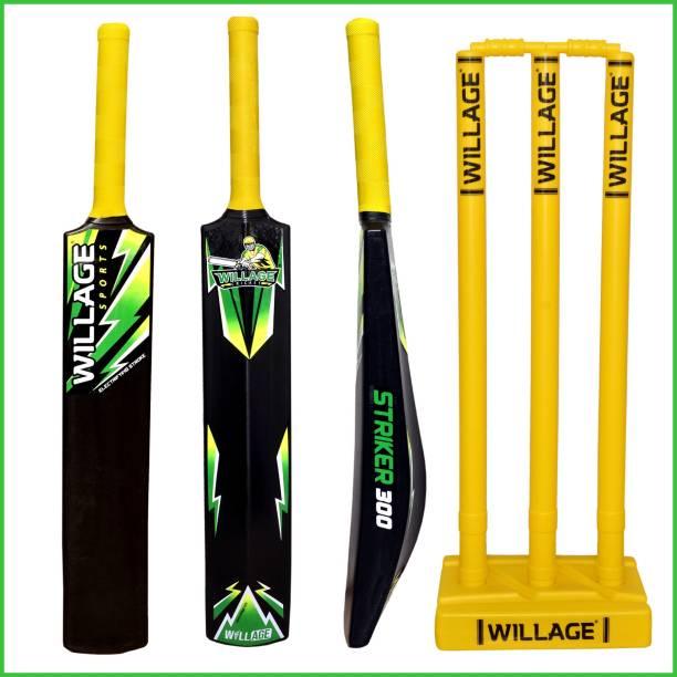 WILLAGE Plastic bat , Plastic bat full size ,Plastic bat for tennis balls PVC/Plastic Cricket  Bat