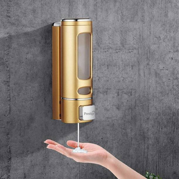 Prestige Liquid Soap Dispenser with Lock Key for Bathroom 350 ml Shampoo, Conditioner, Liquid Dispenser