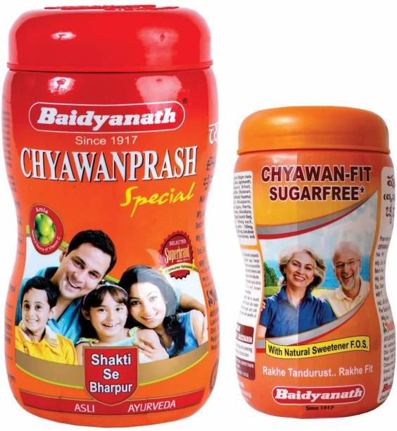 Baidyanath Chyawanprash Special 1kg & Chyawan-Fit Sugarfree 500gm (Combo Pack)