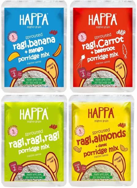 Happa Organic Sprouted Ragi Trial Pack porridge mix-200 gram Cereal Cereal