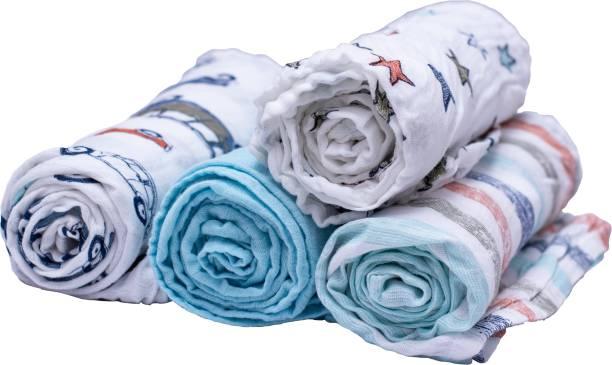 Creative Corner Printed Single Swaddling Baby Blanket
