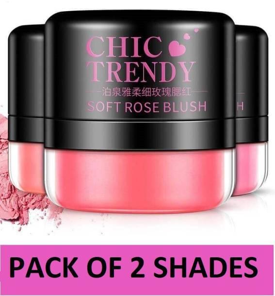BIOAQUA Trendy Blusher Powder Blush Face Makeup Natural Skin 2 Colors COCOMO