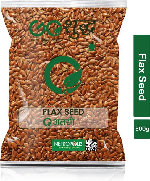 Goshudh Premium Quality Alsi (Flax Seeds)-500gm (Pack Of 1)