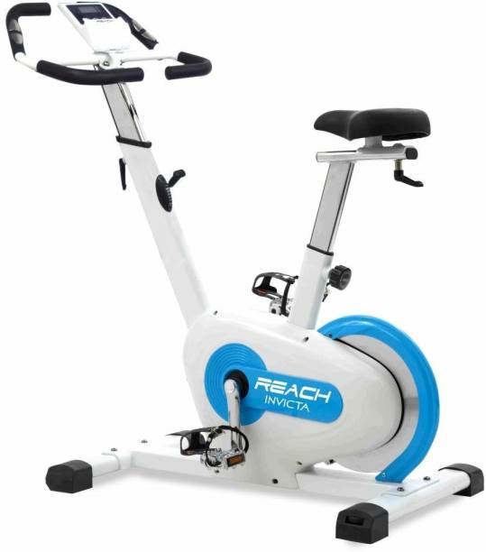 Reach Invicta Exercise Cycle for Home Gym | Spin Bike with Magnetic Resistance Upright Stationary Exercise Bike