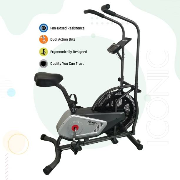 Reach Iconic Air Bike with Unlimited Resistance Dual-Action Stationary Exercise Bike