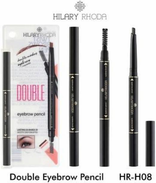 Hilary Rhoda Eyebrow Pencil with Eyebrow Brush (Brown) (Black)