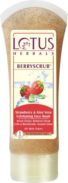 LOTUS HERBALS BERRYSCRUB Strawberry & Aloe Vera Exfoliating Face Wash Scrub