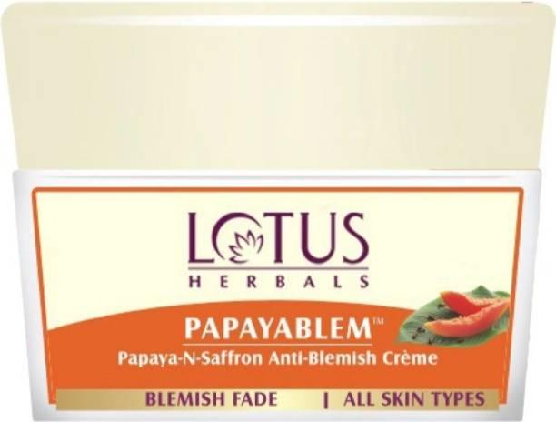 LOTUS HERBALS Papayablem Papay-N-Saffron Anti- Blemish Cream