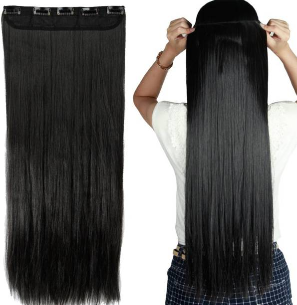 BELLA HARARO Straight Clip-in Synthetic  Extension for Women 26 inch 5 Clips (Natural Colour, 100 gram)-Pack Of 1 Hair Extension