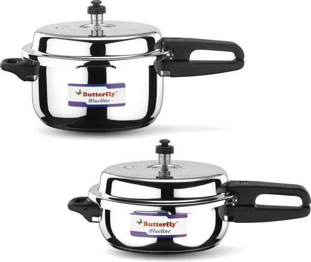 Butterfly present Blueline 3.0, 5.0 liter capacity stainless steel 3 L, 5 L Induction Bottom Pressure Cooker