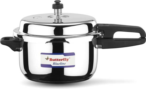 Butterfly present Blueline 3 liter capacity stainless steel 3 L Induction Bottom Pressure Cooker
