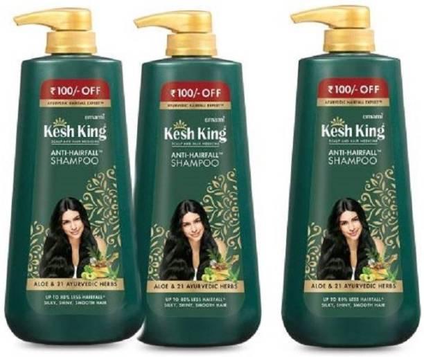 Kesh King Emami Anti Hair fall Shampoo-1800 ml (Pack of 3)