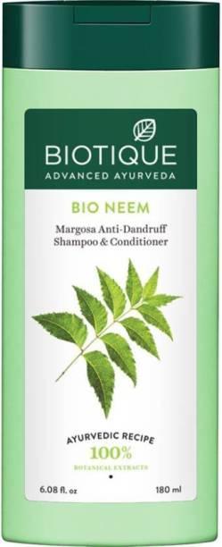 BIOTIQUE Bio Neem Margosa Anti - Dandruff Shampoo & Conditioner 180ml Men & Women