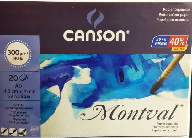 CANSON MONTVAL PLAIN A/5 300 gsm Watercolor Paper