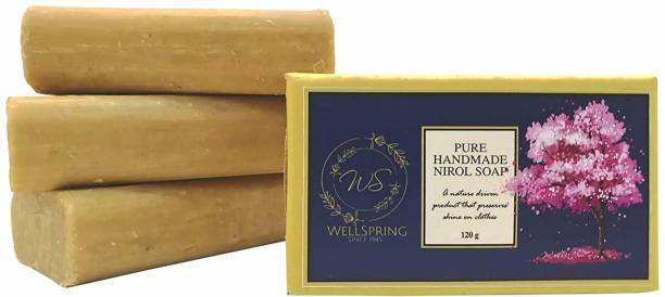 Wellspring Handmade Nirol Natural Washing Laundry Soap Bars| 100% Pure Vegetable Oil, Organic and Chemical Free| Baby Safe| for Sensitive Skin Detergent Bar