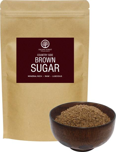 organic forest Country Side Brown Sugar 2Kgs , Mineral Rich , Raw , Luscious Sugar Sugar