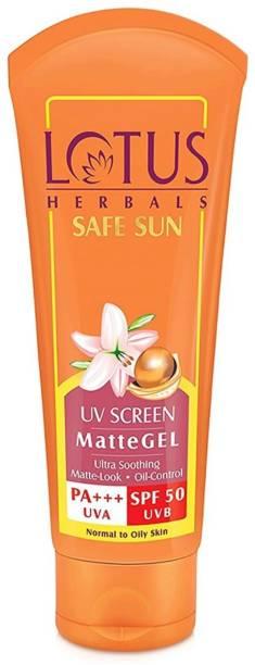 LOTUS HERBALS Safe Sun UV Screen Matte Gel- SPF50 PA+++ - SPF 50 PA+++