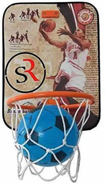 Pseudo basket ball kit for kids playing indoor basket ball hanging board with ball. Basketball