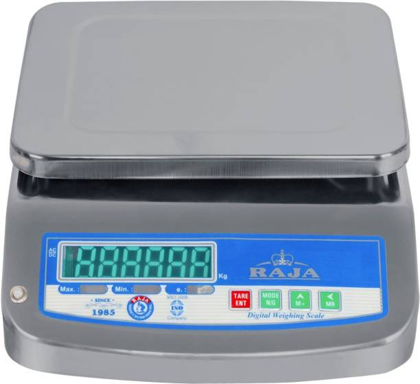 RAJA Digital Stainless Steel Electronic Portable 30 kg Weighing Scale