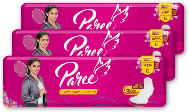 Paree Super Soft & Dry Feel 20 XL Sanitary Pads For Quick Absorb (Combo of 3) Sanitary Pad