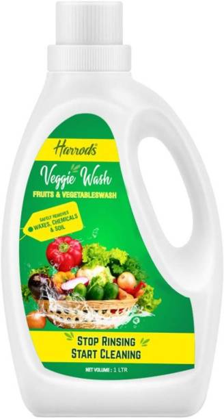 HARRODS Veggie Wash Fruits and Vegetables Washing Liquid Removes Germs Bacteria and Fungus Contains 100% Safe Ingredients