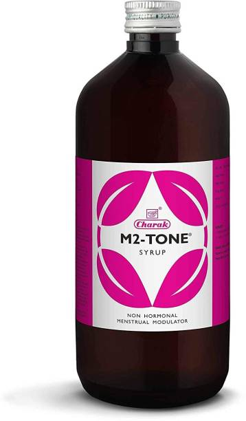 CHARAK M2 Tone Syrup - Helps to reduce pain and abdominal cramps ,Restore emotional balance and reduce stress (Pack of 4)