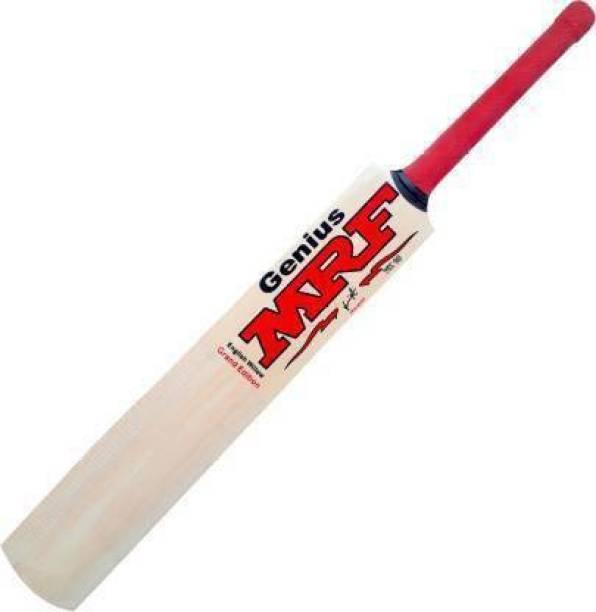 DSK MRF Size-6 Grand Edition Poplar Willow Tennis Cricket Bat (1.2 kg) Poplar Willow Cricket  Bat